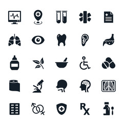 Healthy and Medical icons