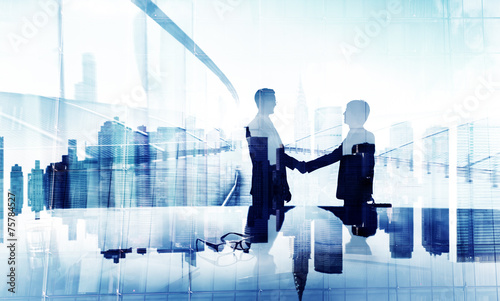 Businessmen Handshake Agreement Support Unity Welcome Concept