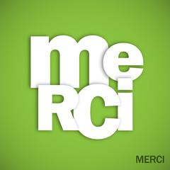 """Mosaïque de Lettres """"MERCI"""" (carte message remerciements joie)"""