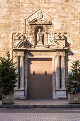 Puerta Principal de la Iglesia de San Agustín. Valencia. España