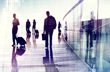 Business Travel Airport Commuter Corporate Professional Concept