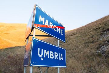 Confine fra umbria e Marche