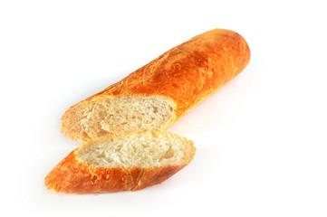 Нарезанный батон белого хлеба