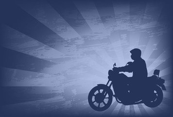 motorcyclist on the abstract background - vector
