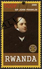 RWANDA - 2009: shows portrait of Sir John Franklin (1786-1847)