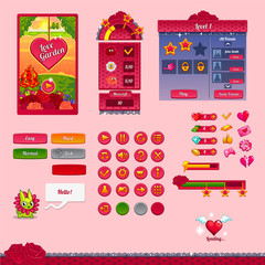 The design elements of the game interface