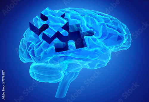Fototapeta Dementia disease and a loss of brain function and memories