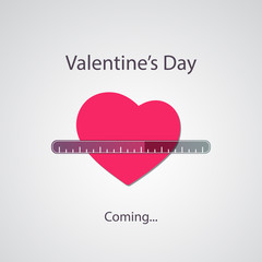 Valentine's Day Is Coming - Greeting Card Concept