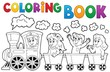 Coloring book train theme 2 - 75785548