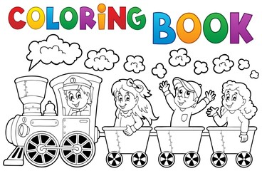 Coloring book train theme 2