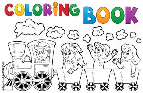 Coloring book train theme 2 - 75785548