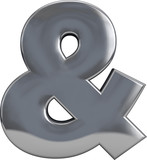 Fototapety Ampersand Metal Character Symbol
