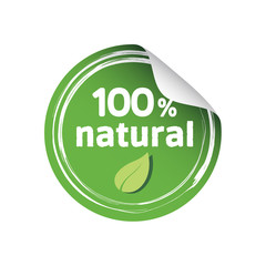Eco Natural Round Sticker
