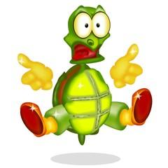 tartaruga spaventata