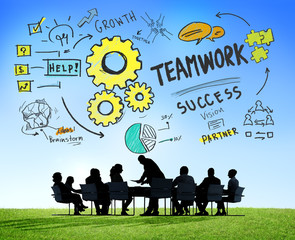 Teamwork Team Together Collaboration Business Meeting Concept
