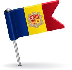 Moldova pin icon flag. Vector illustration