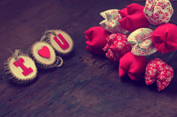 Valentine background, I love you message