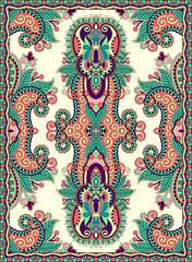 ukrainian floral carpet design for print on canvas