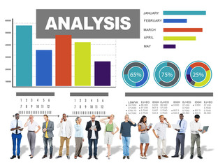 Data Analysis Statistics Report Progress Strategy Concept