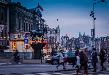 Abend in Amsterdam Niederlande
