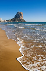 rock of ifach,calpe beach,spain