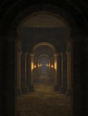 Corridor in the dungeon