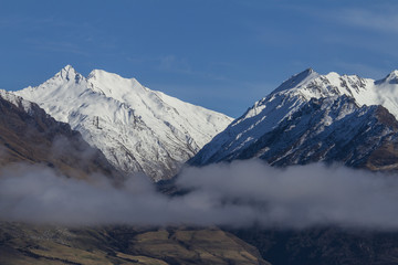The mountains in New Zealand