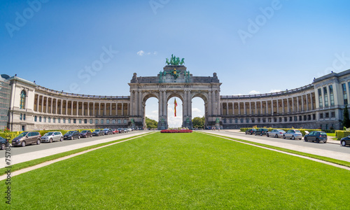 The Triumphal Arch in Brussels, Belgium - 75788143