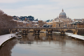 Rome with snow