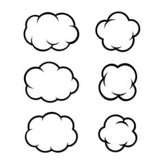 Set of Comic Bubbles and Elements. Vector