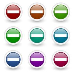 minus web icons colorful set