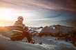 canvas print picture - Snowboarder