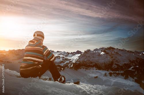 canvas print picture Snowboarder