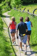 Gemeinsam beim Nordic Walking