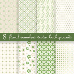 collection seamless floral backgrounds
