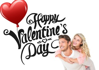 Composite image of valentines couple