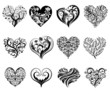 Tattoo hearts. - 75791157