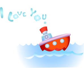 Steamship in love
