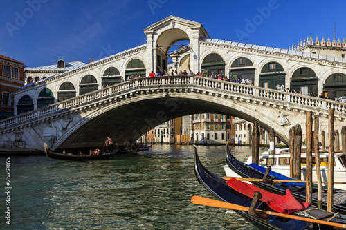 Panel Szklany Ponte di Rialto Venezia.