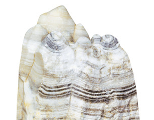 Limestone , Mineral of calcium on a white background