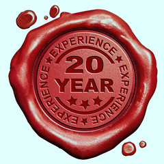 20 year experience