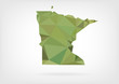 Low Poly map of Minnesota state