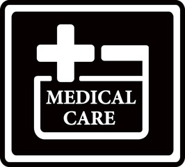 black medical care icon