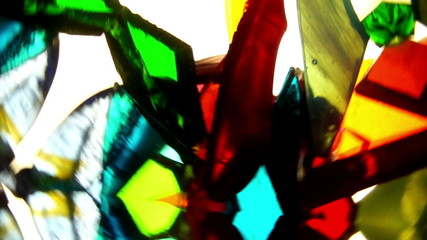 Kaleidoscope of Stained Glass , Crystals and Sequins Rotates