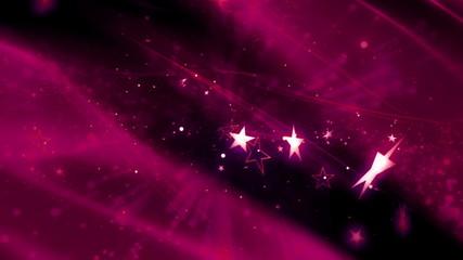 Animated Background Magenta Cosmic Stars Loop