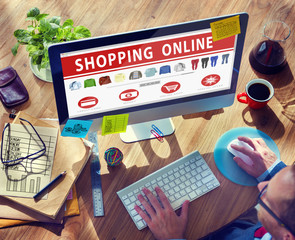 Digital Online Shopping E-Commerce Purchase Buying Concept