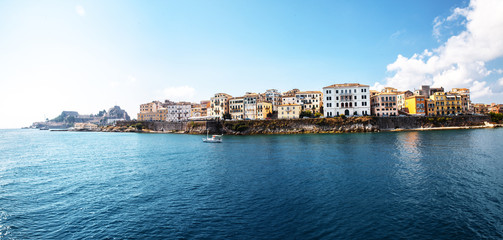 Corfu town.Panoramic view.