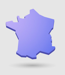 purple France map icon