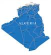 Постер, плакат: Algeria map
