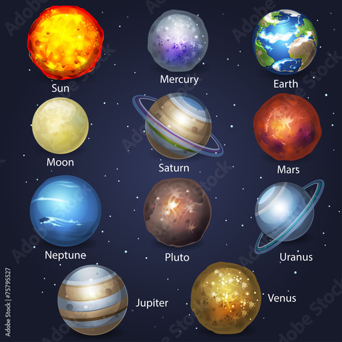 Fototapeta Planet set 2